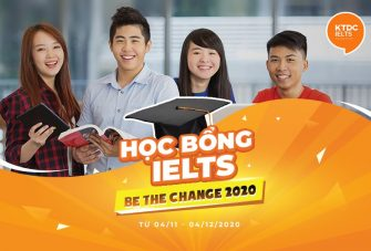 Học bổng 'Be The Change with KTDC' 2020