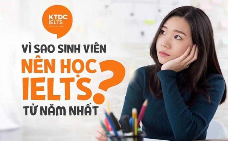 Vì sao sinh viên nên học IELTS từ năm nhất?