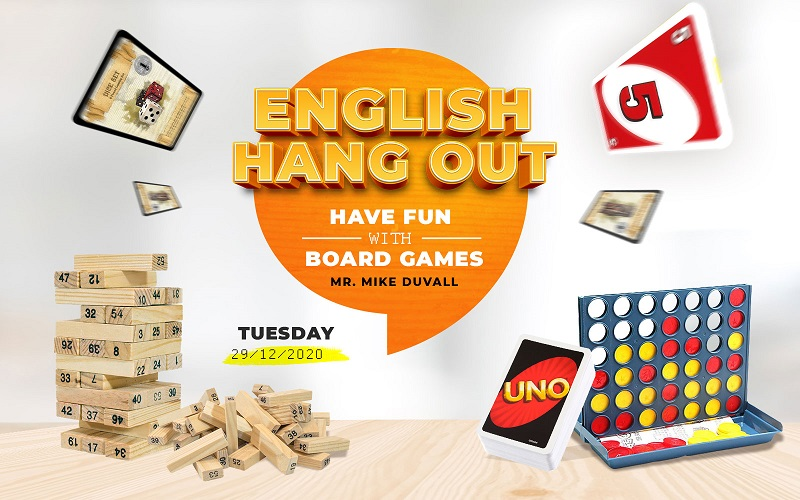English Hang Out: chơi board games cùng thầy Mike