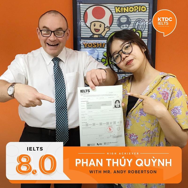 Phan Thúy Quỳnh và thầy Andy